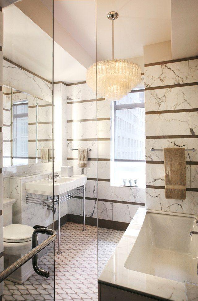 a 1930s nyc apartment gets a crisp and elegant bathroom