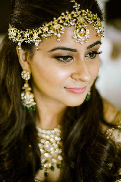 Designer Maang Tikka Forehead Bridal Matha Patti Traditional Beaded Jewelry