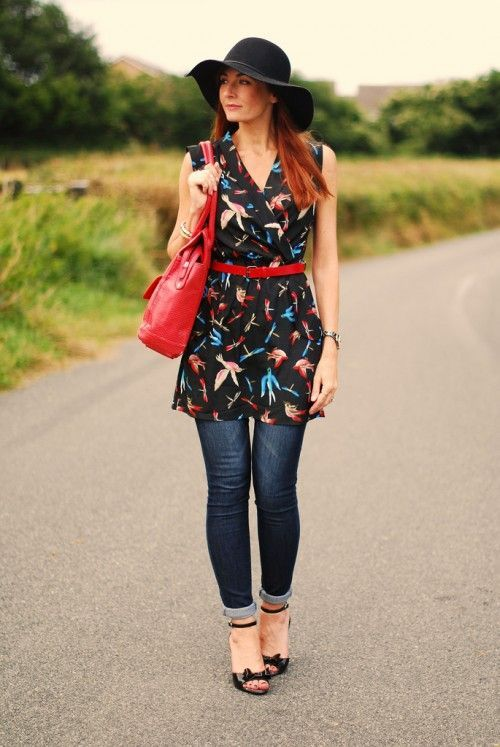 dress-over-jeans-outfit