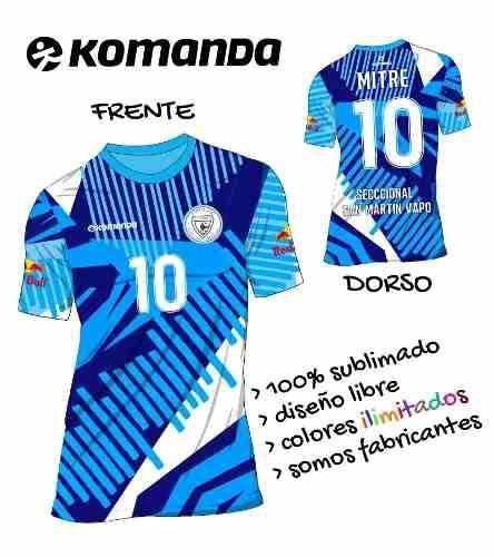 Camiseta De Fútbol Sublimadas Y Personalizadas Komanda  d96e3d31320a3
