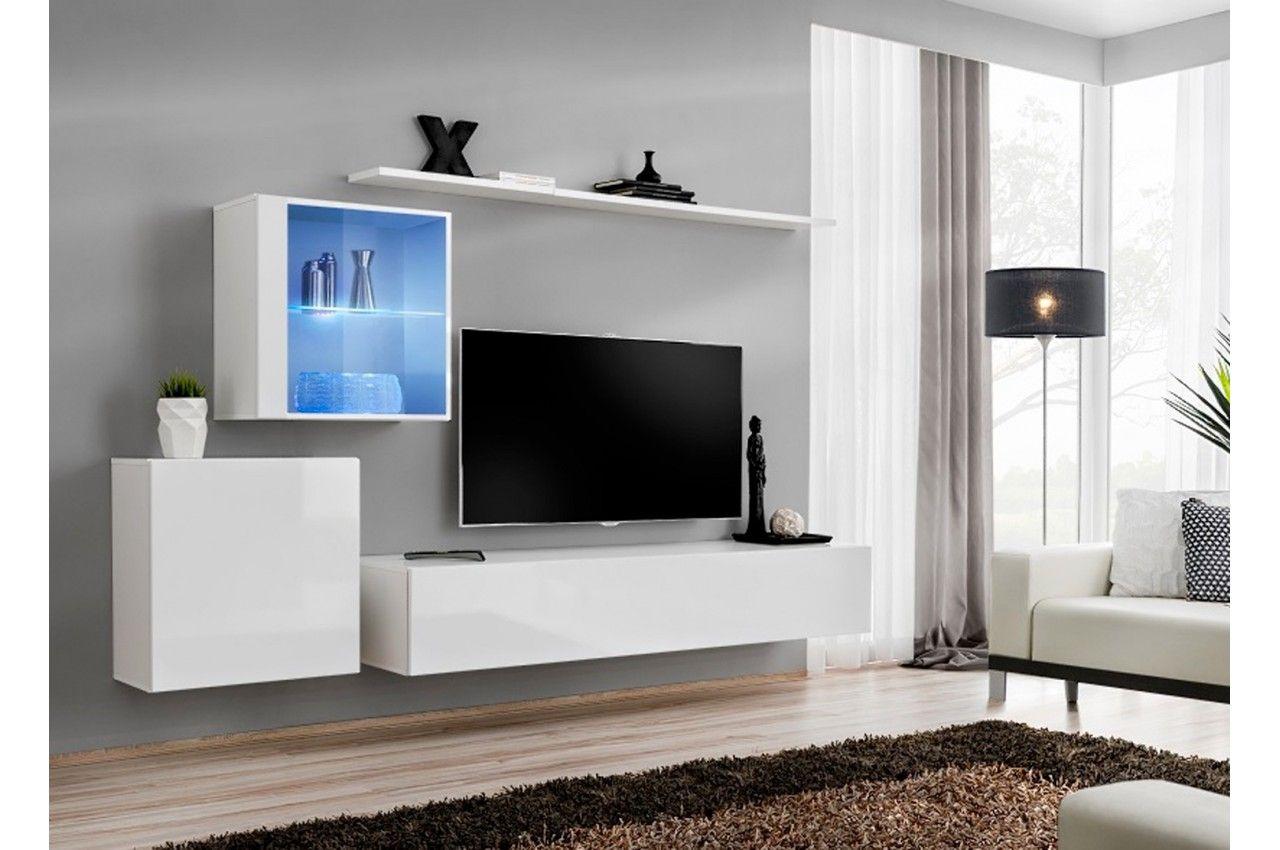 Beau Meuble Tv Suspendu Pas Cher Living Room Wall Units Modern Living Room Wall Modern Tv Wall Units