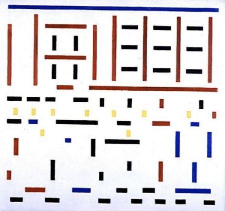 Compositie 1917 no 3 uitgaan van de fabriek 1917 bart van der leck 1876 1958 olieverf op - Deco design fabriek ...