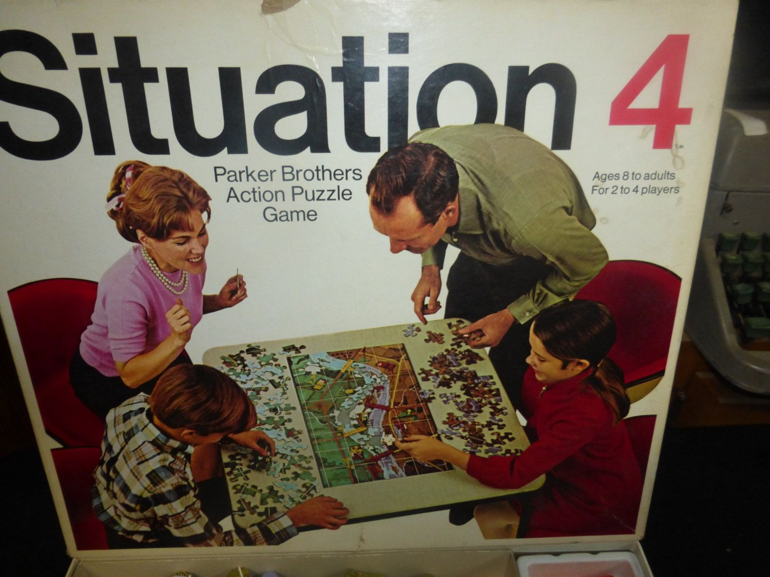Vintage Board Game, Situation 4 Puzzle War Game from
