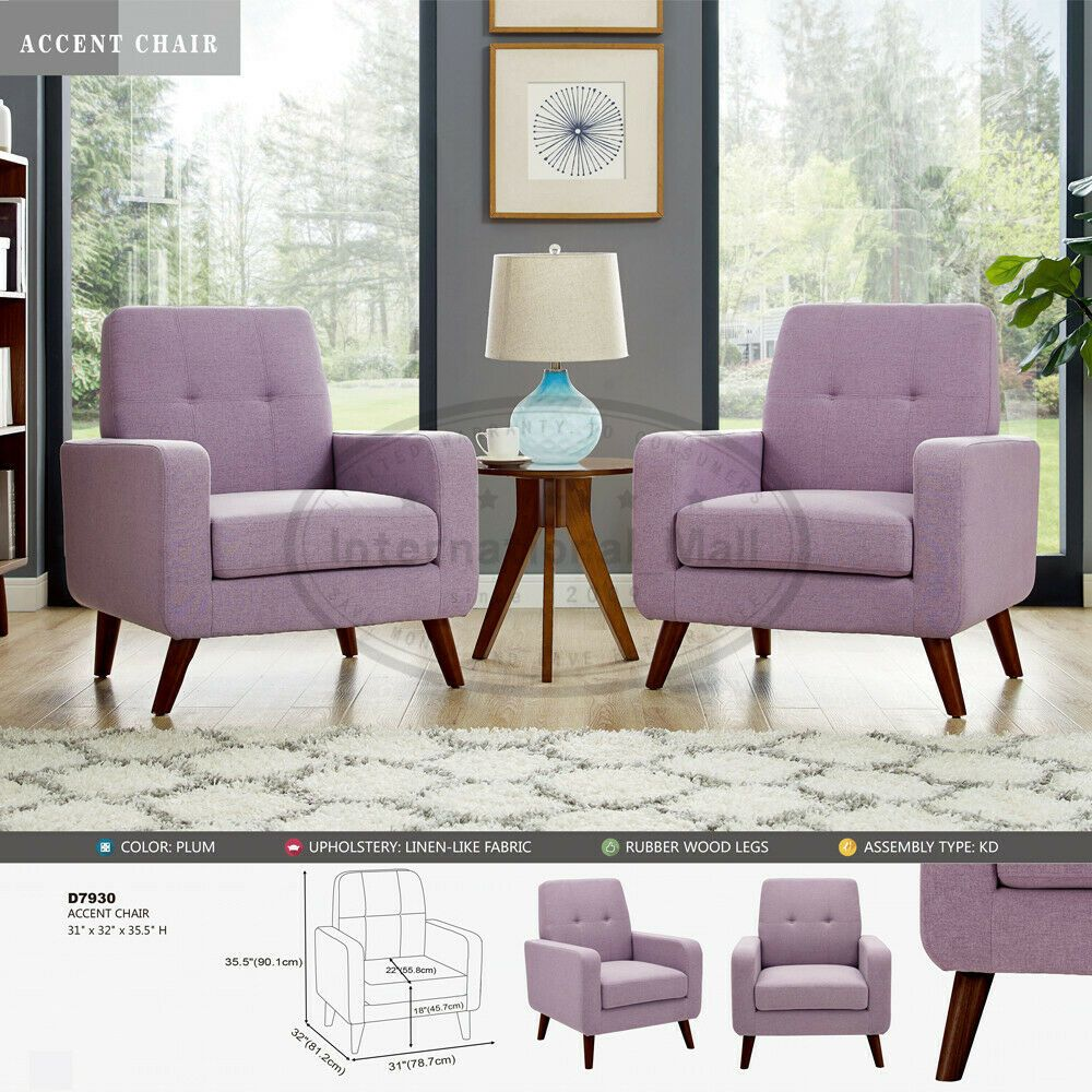 Modern Upholstered Accent Chair Comfy Armchair Tufted Button Linen Fabric Sofa Chair Bedroom Ideas Of Chair Bedroom Chair Bedroom Chairbedroom Modern #sofa #and #chair #living #room #set