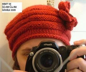 les explications du modèle du beret (marie claire idées de 2005). – Kianoute