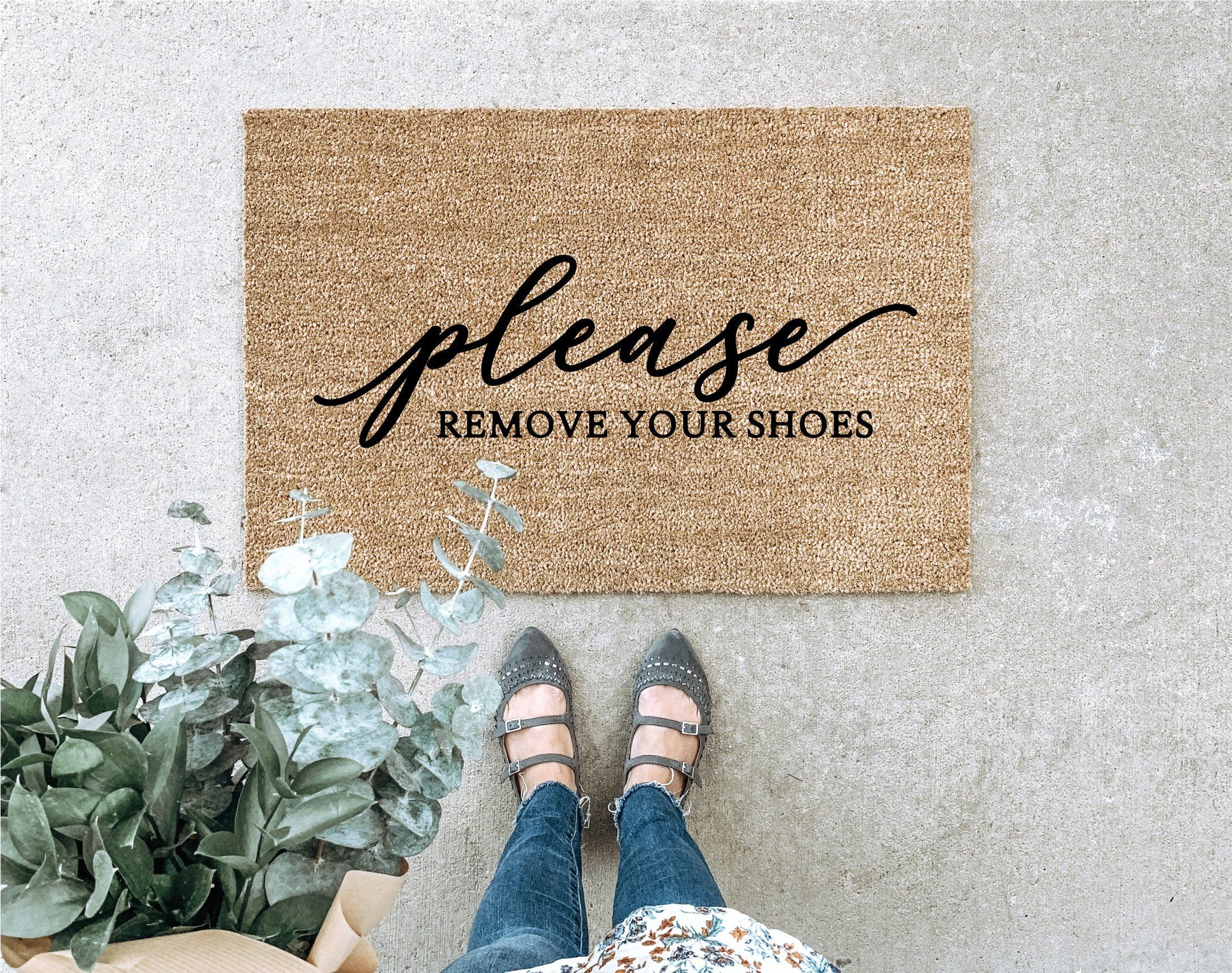 Remove Your Shoes Doormat Funny Welcome Mat Housewarming Gift