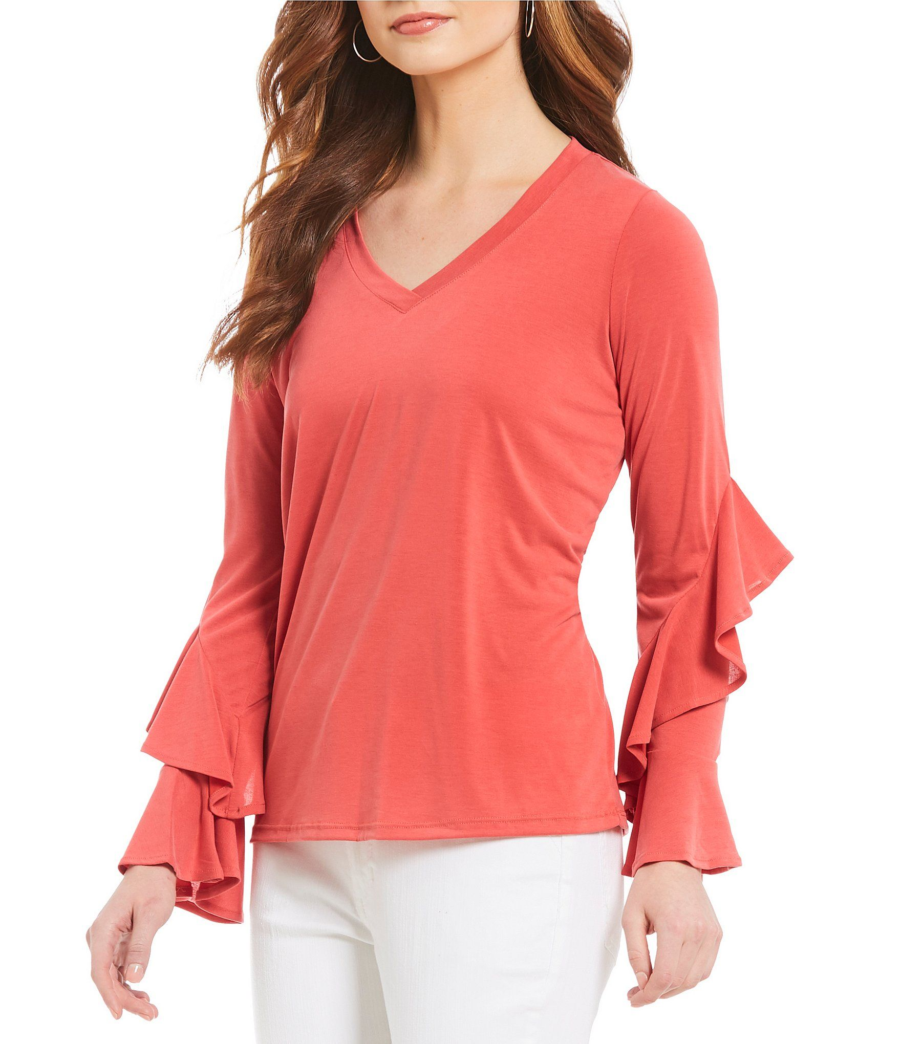 cae121b5b3 Shop for Gibson   Latimer Ruffle Sleeve Blouse at Dillards.com. Visit  Dillards.com to find clothing