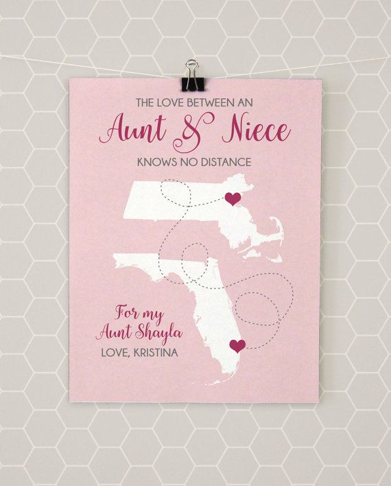 Aunt niece gifts map auntie present long distance art moving aunt niece gifts map auntie present long distance art moving away missing negle Image collections