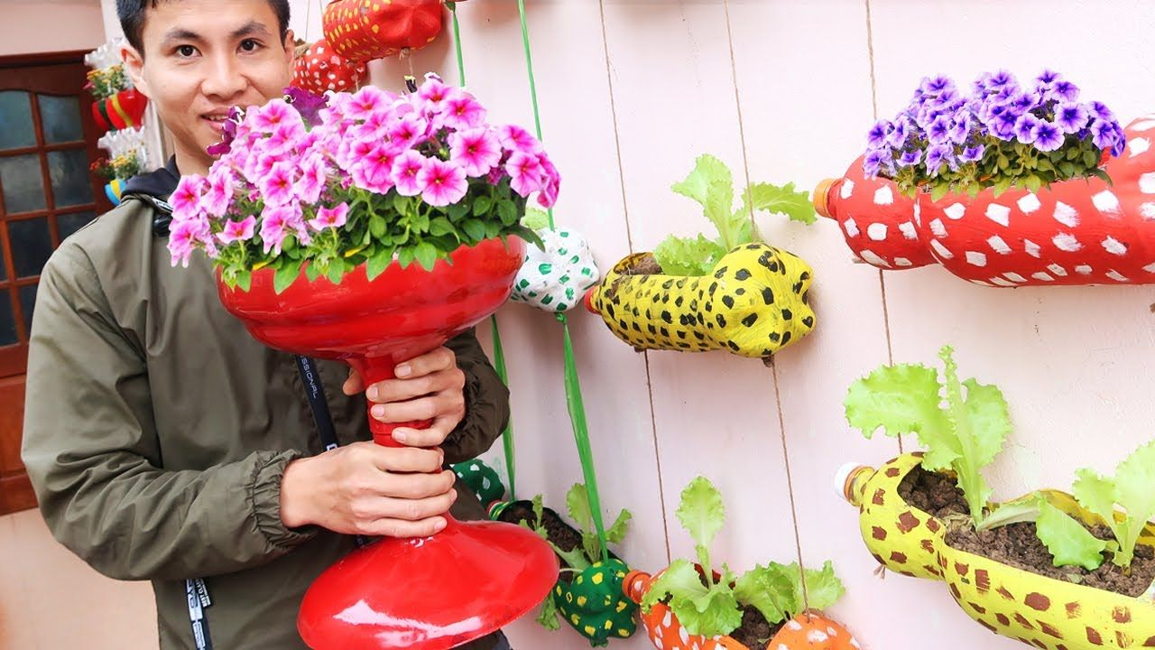 Recycle Mineral Water Bottle Into Beautiful Flower Pot For Your