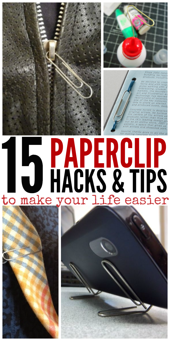 15 Paperclip Hacks to Make Your Life Easier - Who knew paperclips to do all these amazing things! Click now!