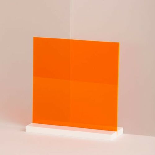 1 8 Neon Orange Fluorescent Acrylic Plexiglass Sheet 24 X 12 On Sale Azm Ebay In 2020 Plexiglass Sheets Black Acrylic Sheet Plexiglass