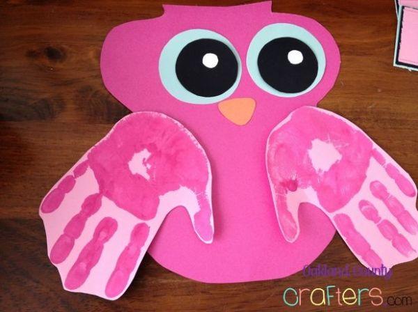 valentine owl craft free preschool crafts - 600×448
