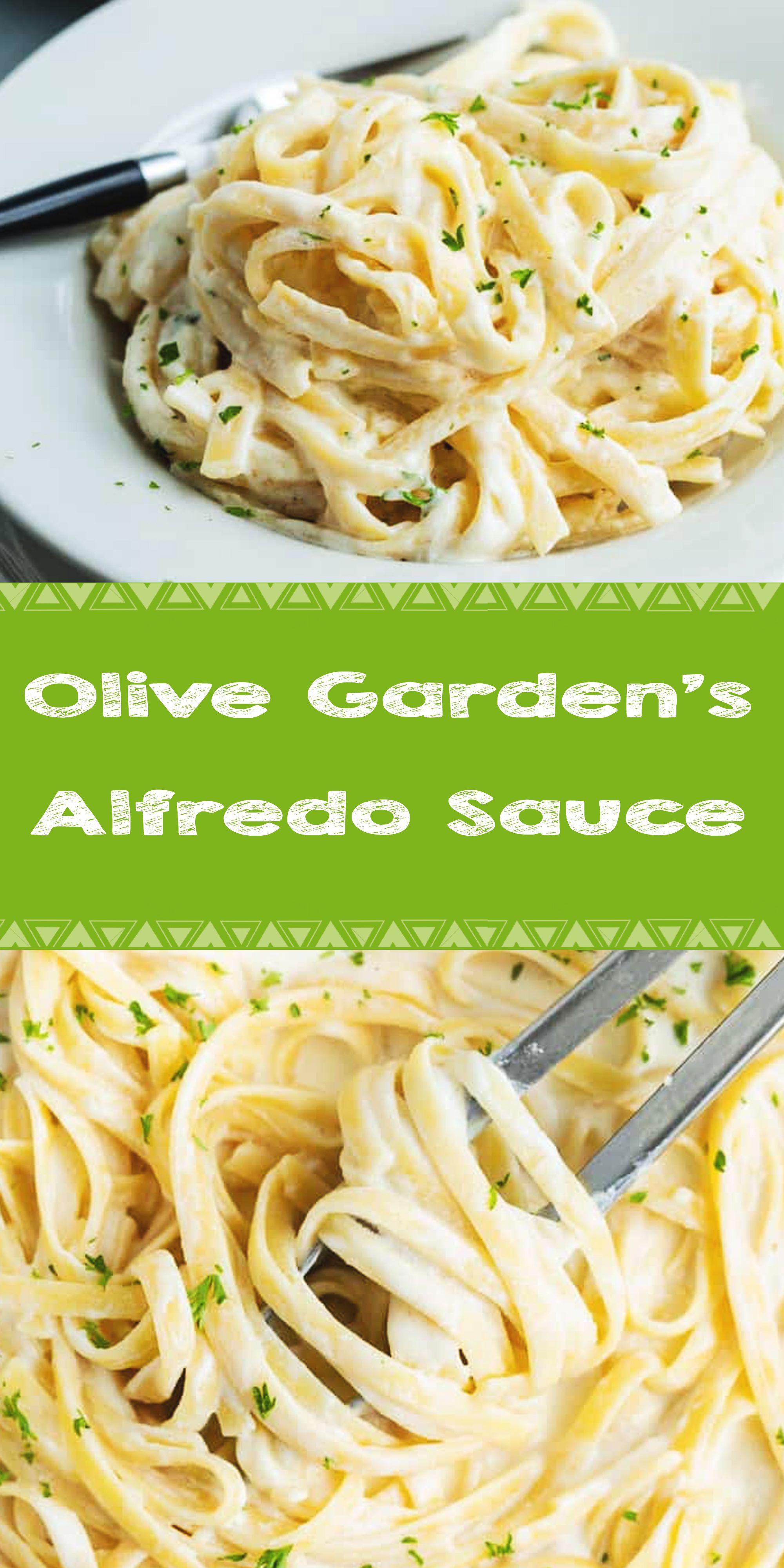 Olive Garden's Alfredo Sauce in 2020 Healthy chicken