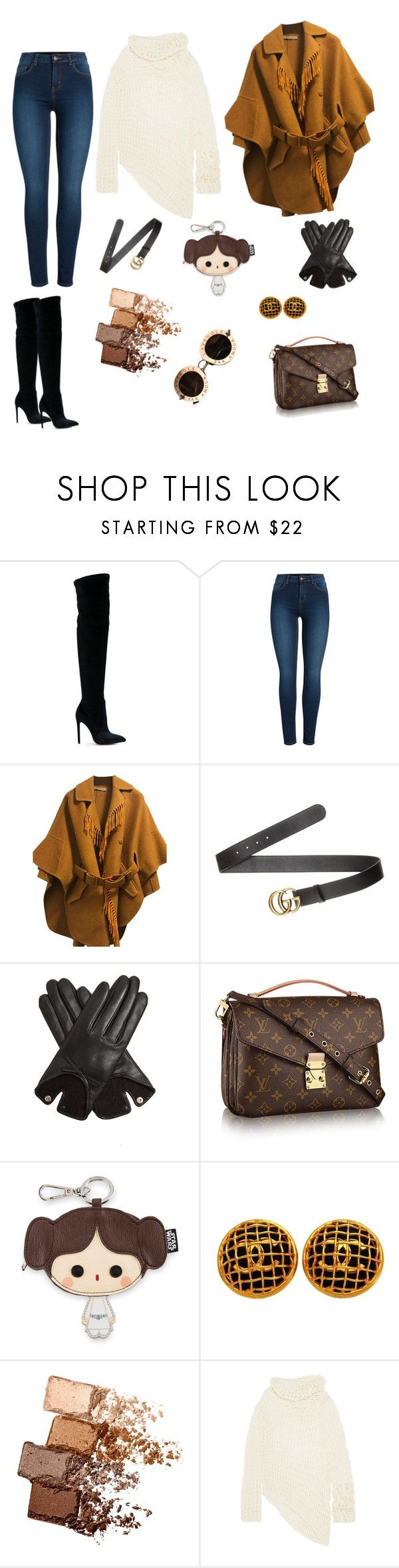 """""""warm"""" by walerie ❤ liked on Polyvore featuring Gianni Renzi, Pieces, Ermanno Scervino, Gucci, AGNELLE, Loungefly, Chanel, Maybelline and Ann Demeulemeester"""