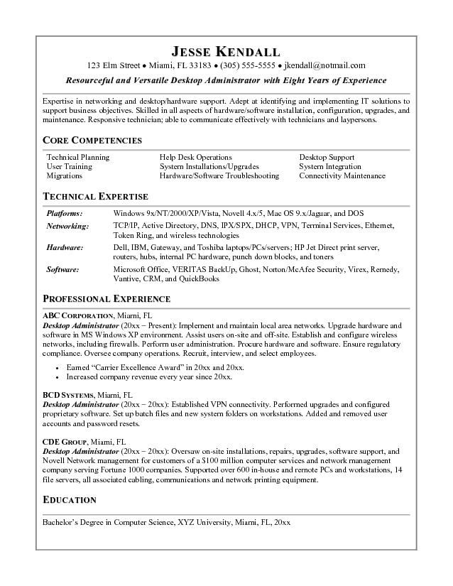 system administrator resume sample midlevel systems ideas - sample administrator resume