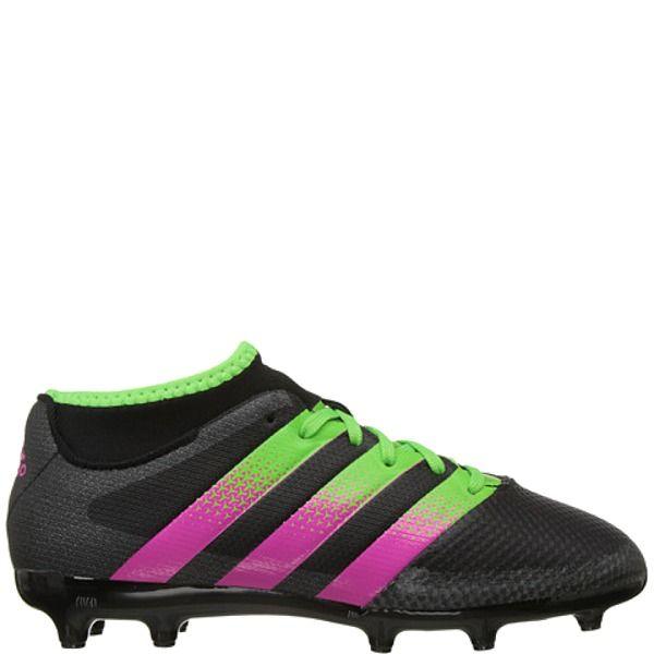 adidas ACE 16.3 Primemesh FG/AG J Black/Solar Green/Shock Pink Youth