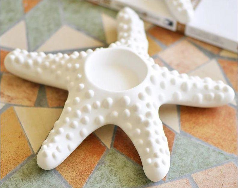 Aliexpress Com Buy Creative Ceramics Starfish Miniature Candle Miniature Candles Starfish Wall Decor Candle Ornament