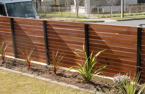 Solid Wood Fencing Think About Using The Posts On Our