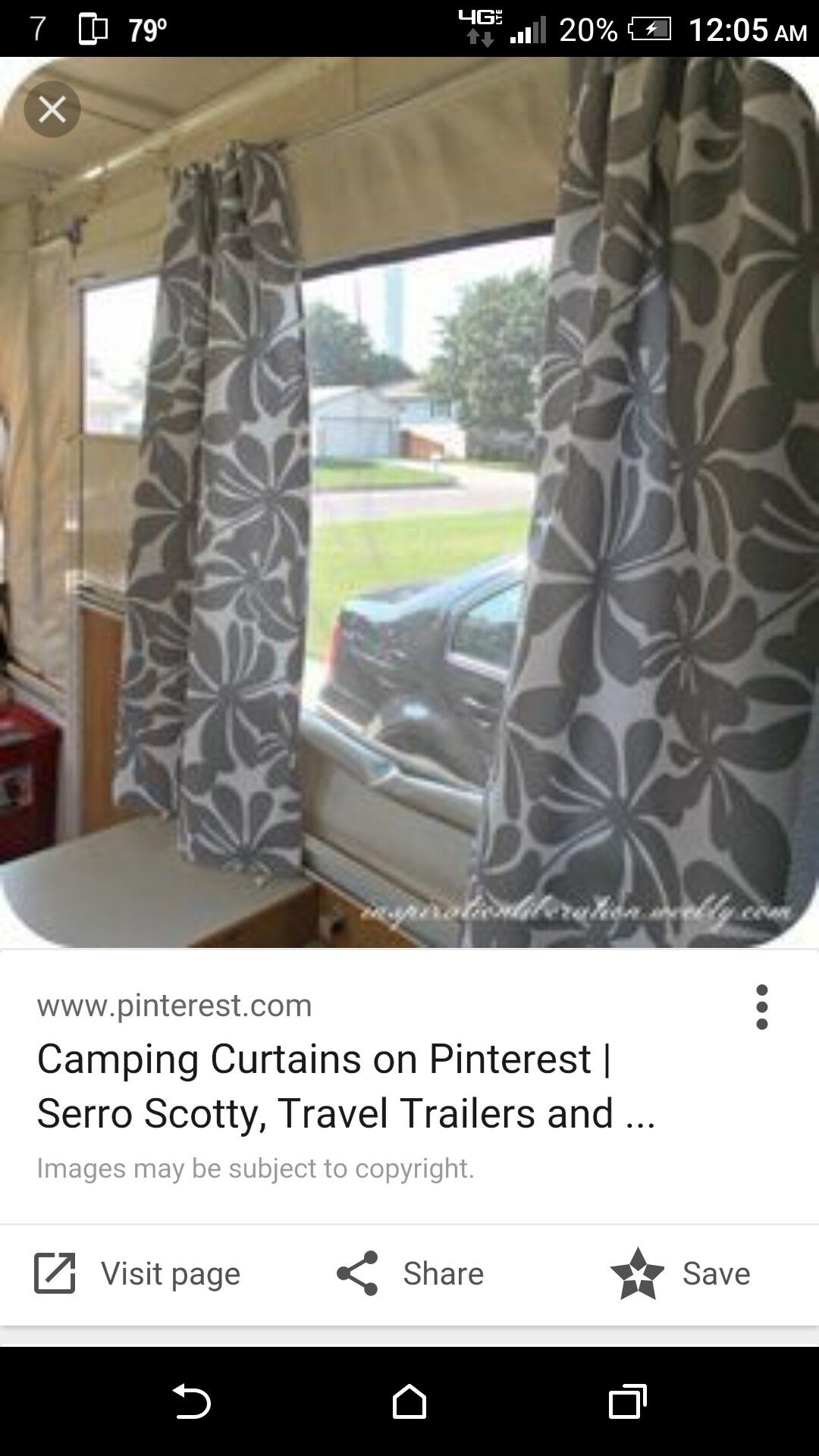 Easy Curtains Using A Curtain Rod Pop Up Camper Camper Curtains