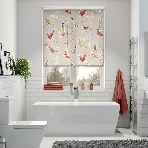 Passaro Natural Roller Blind Natural Roller Blinds Bathroom