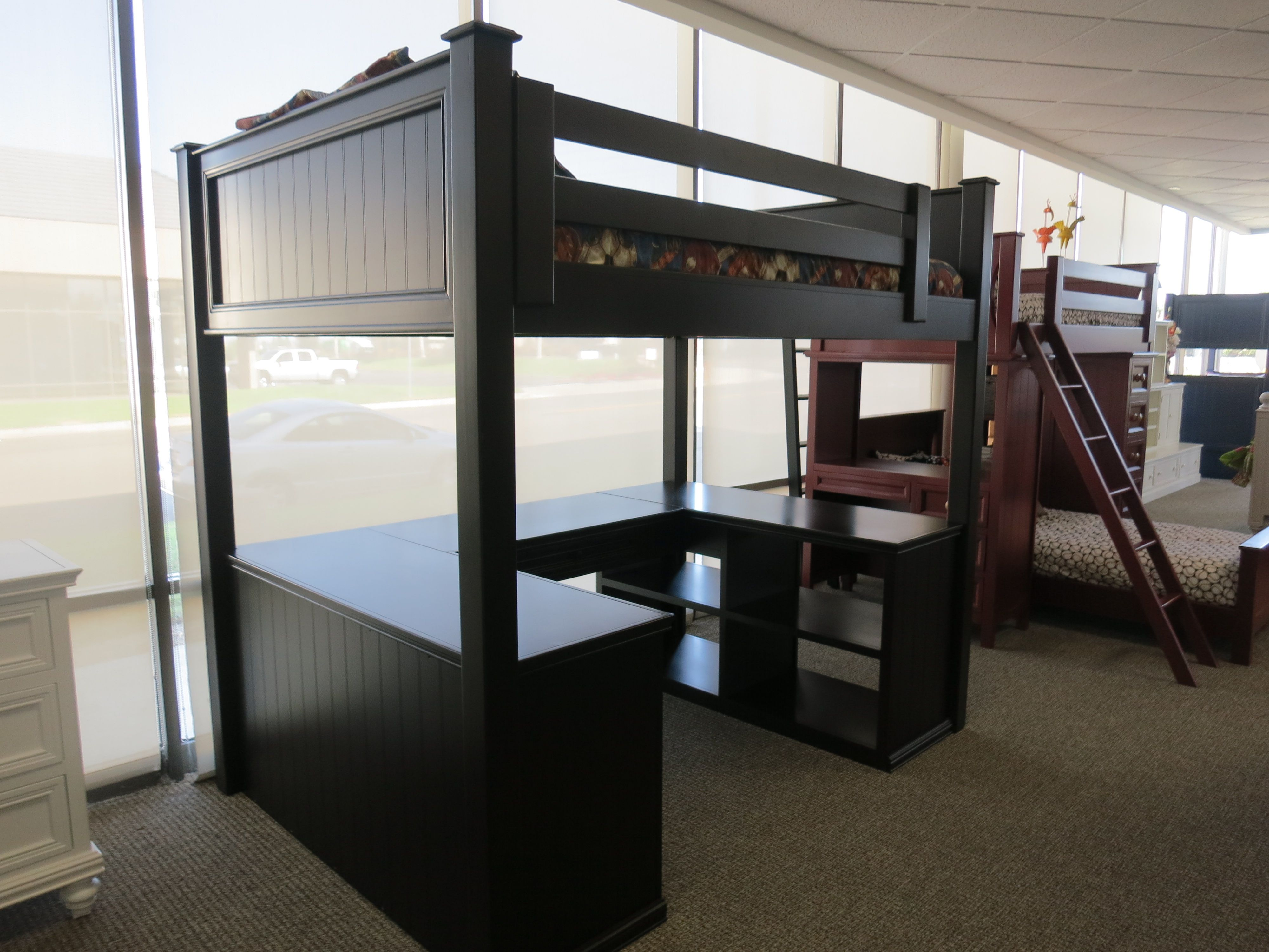 Loft bed with desk queen  The Workstation Loft is the perfect combination of bunk bed and