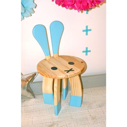 Fesselnd Club Soda Designs | BUNNY Kids Chair Blue
