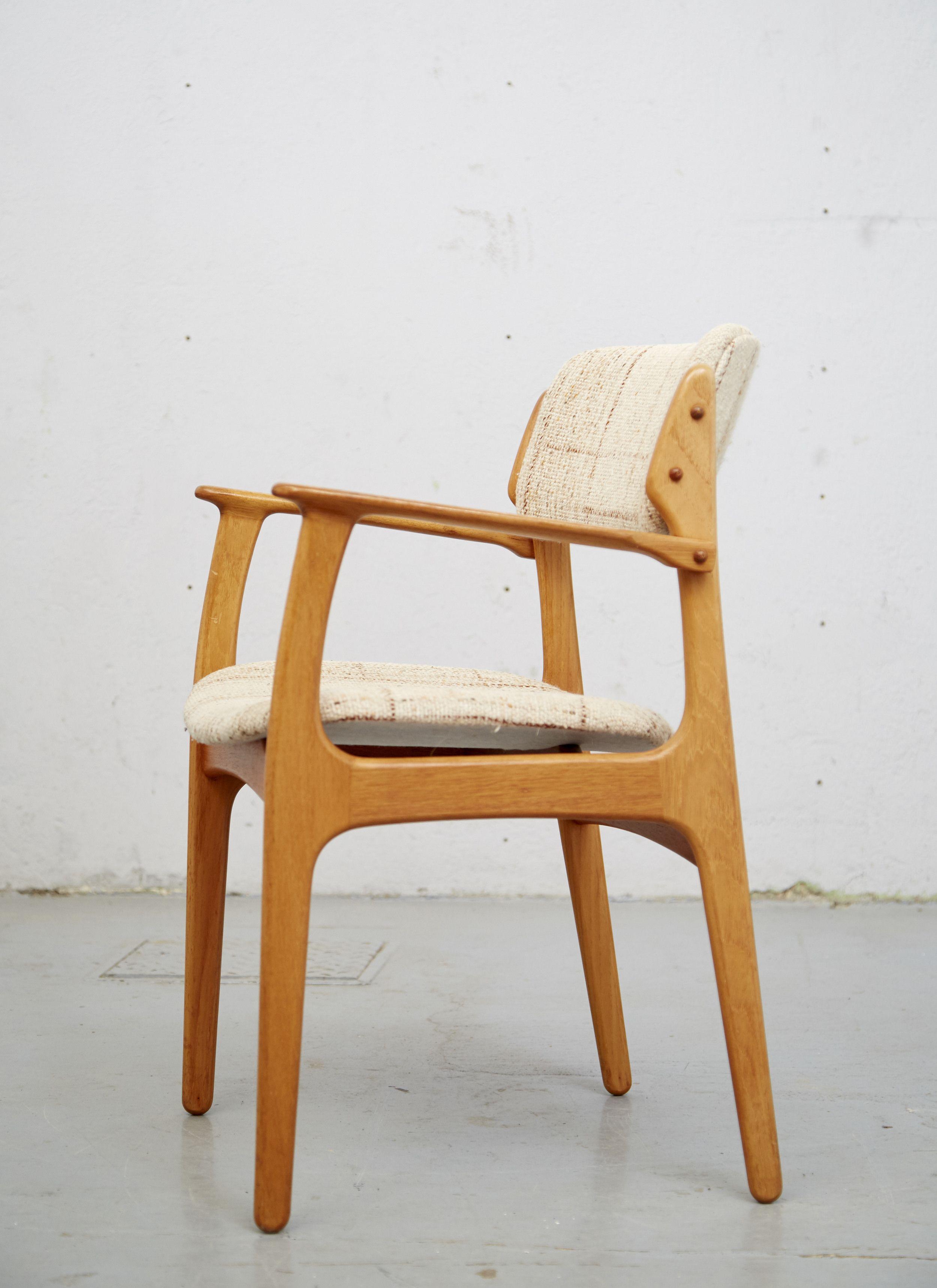dining chair 50 erik buch für o d møbler oak eiche eilers