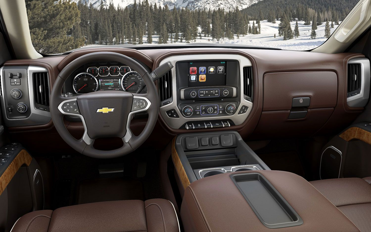 2014 chevrolet silverado high country interior its unique brown leather treatment looks and feels worthy of the premium price