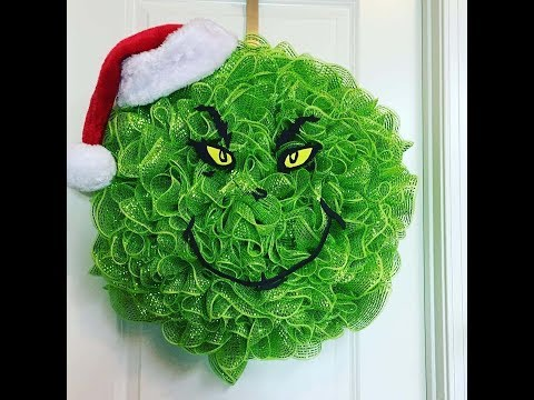 Photo of Wie man einen Grinch Deco Mesh Kranz zu Weihnachten macht