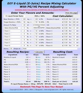 Best ejuice calculator also vape pinterest rh