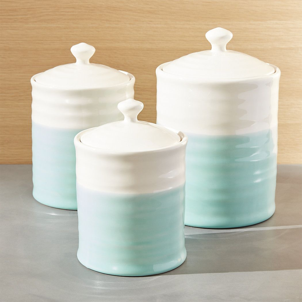 Capable Bread Bin Set With Matching Canister Set Tea Coffee Sugar Jar 4pc Mint Green Sfg Without Return Food & Kitchen Storage Cookware, Dining & Bar