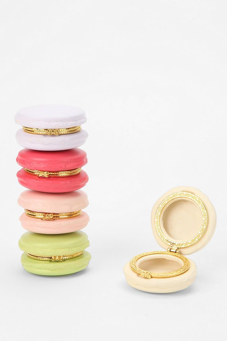 Cutest trinket boxes, ever. #macaron #urbanoutfitters    great for making homeade lipbalm