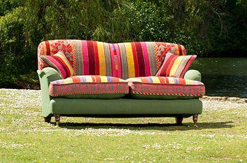 sofa in Bolivian textile | Furniture makeover, Funky furniture