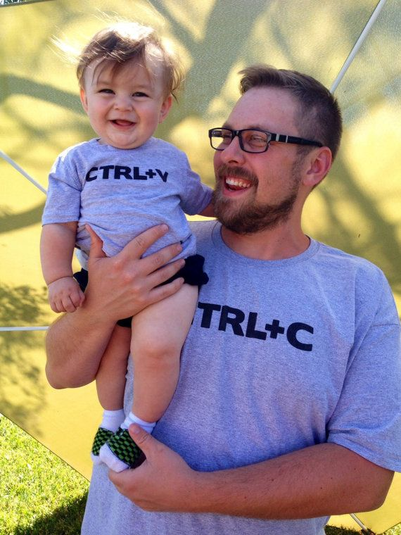 66950232 Funny ctrl c and ctrl v copy paste matching dad and kiddo t-shirt or ...