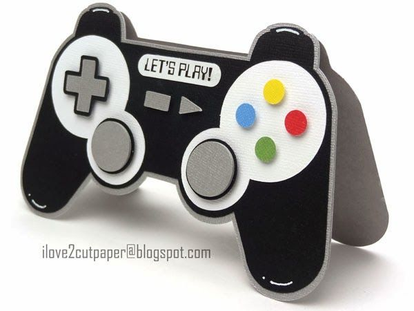 i love 2 cut paper Games Controller Card Ideas - Boys B-Day - best of coloring page xbox controller
