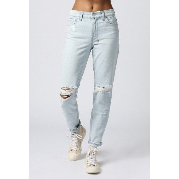 Ksubi Slim Straight Jean ($235) ❤ liked on Polyvore featuring jeans, albino bleach, ripped jeans, bleached ripped jeans, straight leg jeans, destroyed jeans and distressing jeans