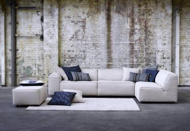 Bank enzo topform bij rikken lounge hoekbank in grijs furniture