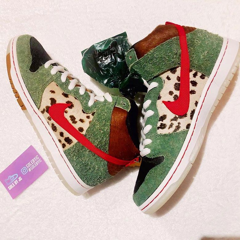 dc924a53144b The Upcoming Nike SB Dunk High Dog Walker Has All-Over Print Dog Insoles