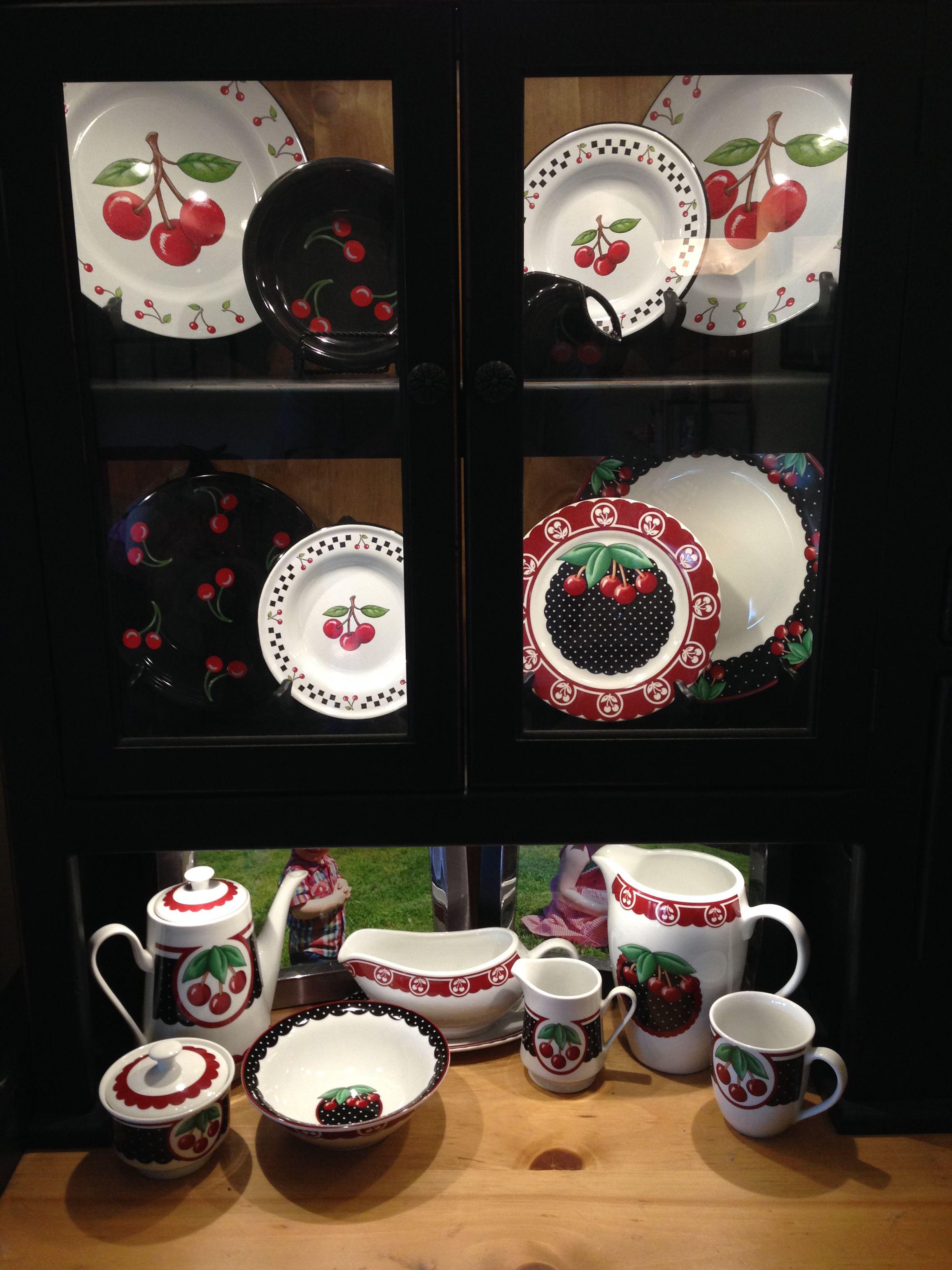Cherry Dishes Fiesta Black Cherries Mary Engelbreit Cherry Cameo