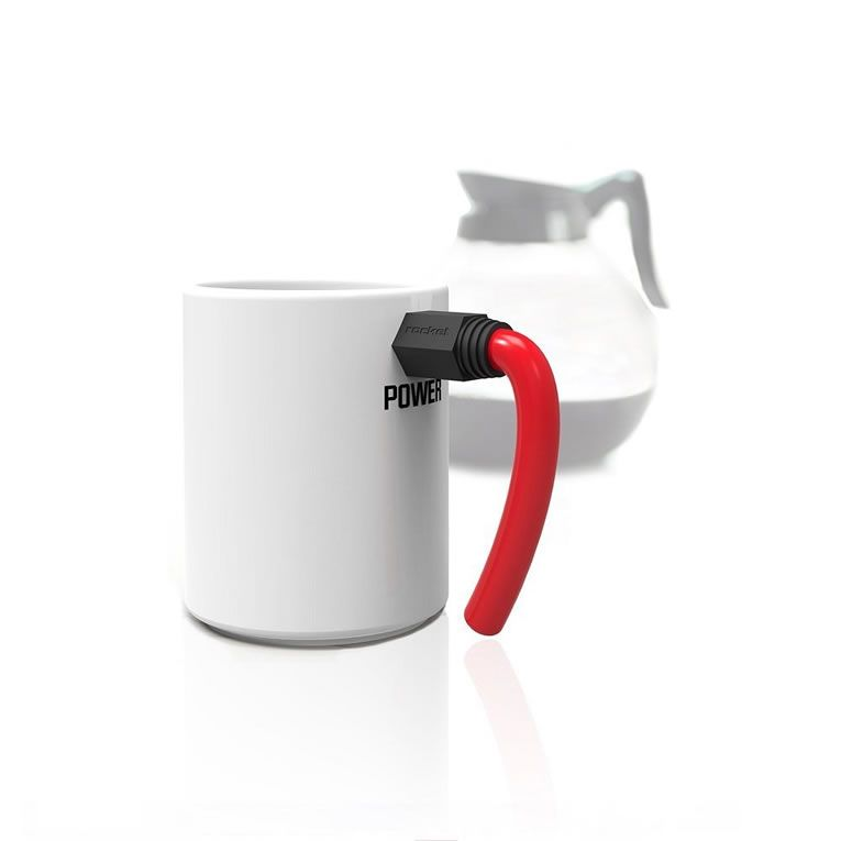 Wired Coffee Mug Amps Up Your Morning Joe To 11 | Rocket design ...