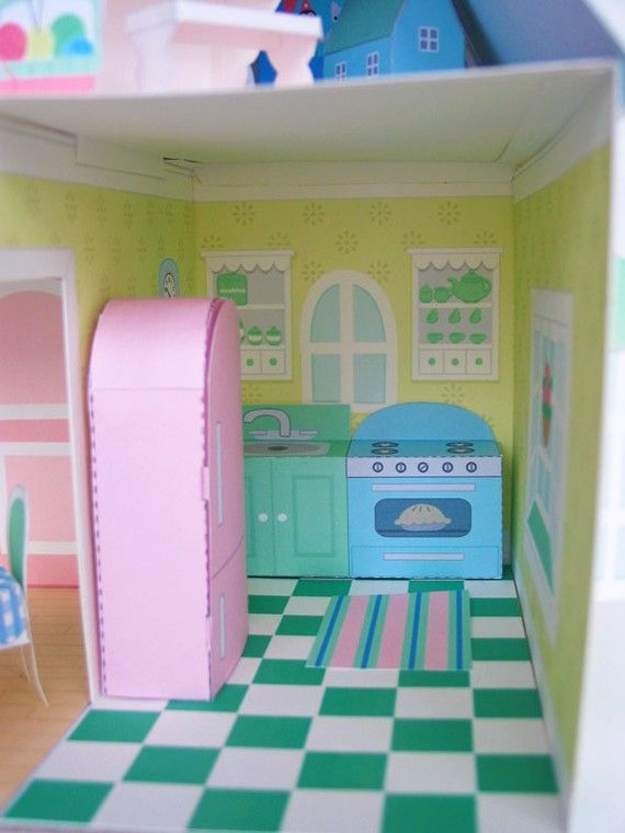 dollhouse furniture printable paper