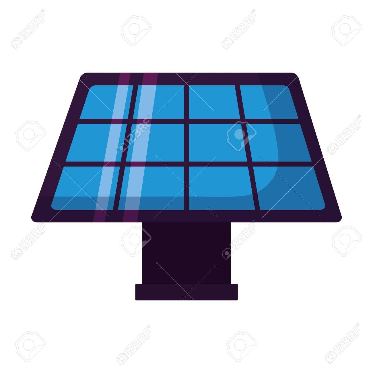 solar panel energy on white background vector illustration Illustration