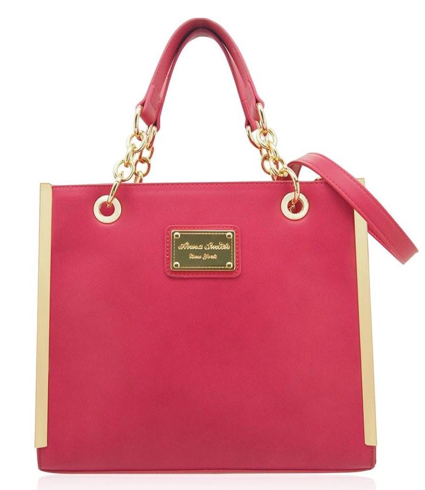 Beautiful Bright Pink Anna Smith Handbags Long Strap Included