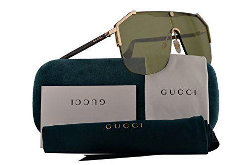 ccf910c63a Gucci Sunglasses Gold Havana w Green Lens 99mm 004 GG0291 S GG 0291 S GG  0291S