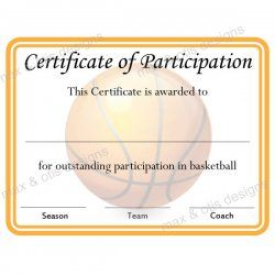 Basketball certificate of participation printable basketball basketball certificate of participation printable basketball certificates basketball participation cert 500 max yadclub Choice Image