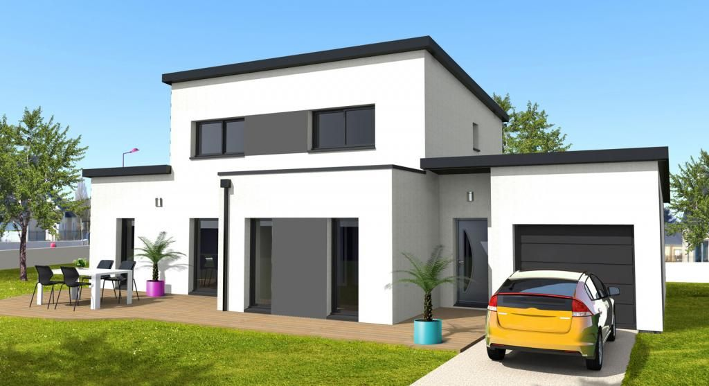 maison moderne toit monopente