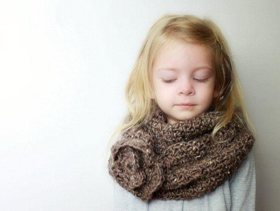 Childs Crochet Cowl Pattern Veronica Crochet Pattern Only