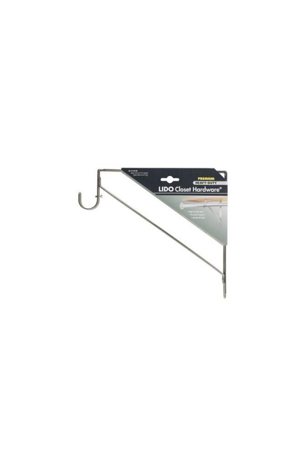 Our Premium Closet Brackets Give Dual Support For Both Closet Rods And Shelving Made From The Highest Quality Metals A Closet Rods Bracket No Closet Solutions