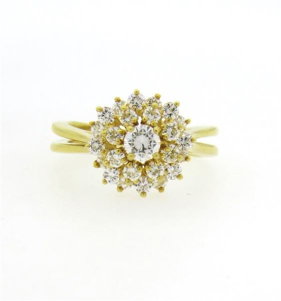 Classic Kurt Wayne 18k Gold Diamond Cluster Ring Featured in our upcoming auction on December 14, 2015 11:00AM EST!