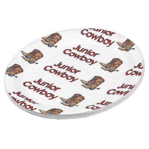 Junior Cowboy Paper Plate  sc 1 st  Pinterest & Junior Cowboy Paper Plate | Cowboys and Babies